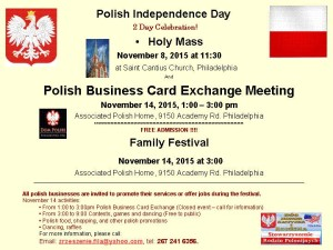 Polish Independence Day /Family Fall Festival - November 2015
