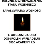 Zapał Światło Wolności - Lighting the Candle of Freedom Ceremony to remember Polish victims of Communism - December 2015