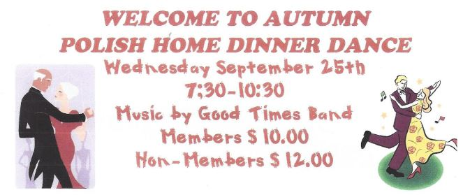 WELCOME TO AUTUMN - DINNER DANCE