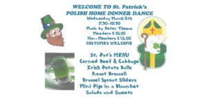 St. Patrick's Polish Home Dinner Dance
